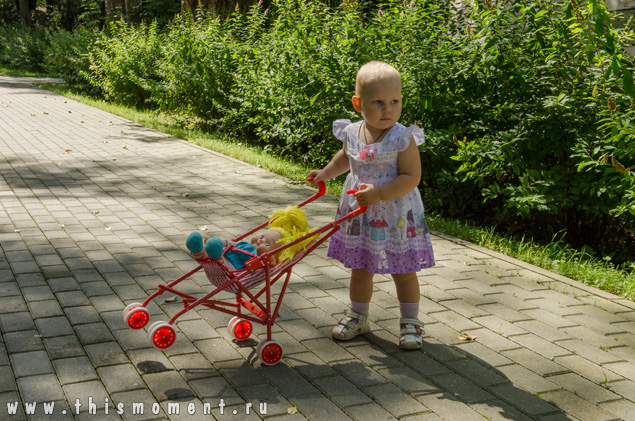 Девочка с коляской