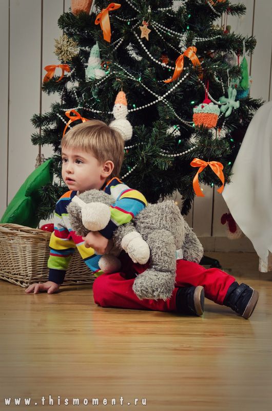 Сын у елки