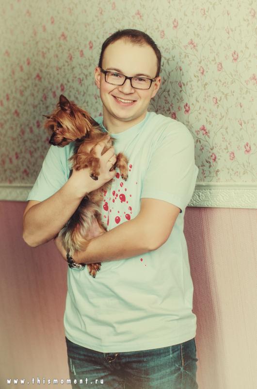 Портрет с собачкой